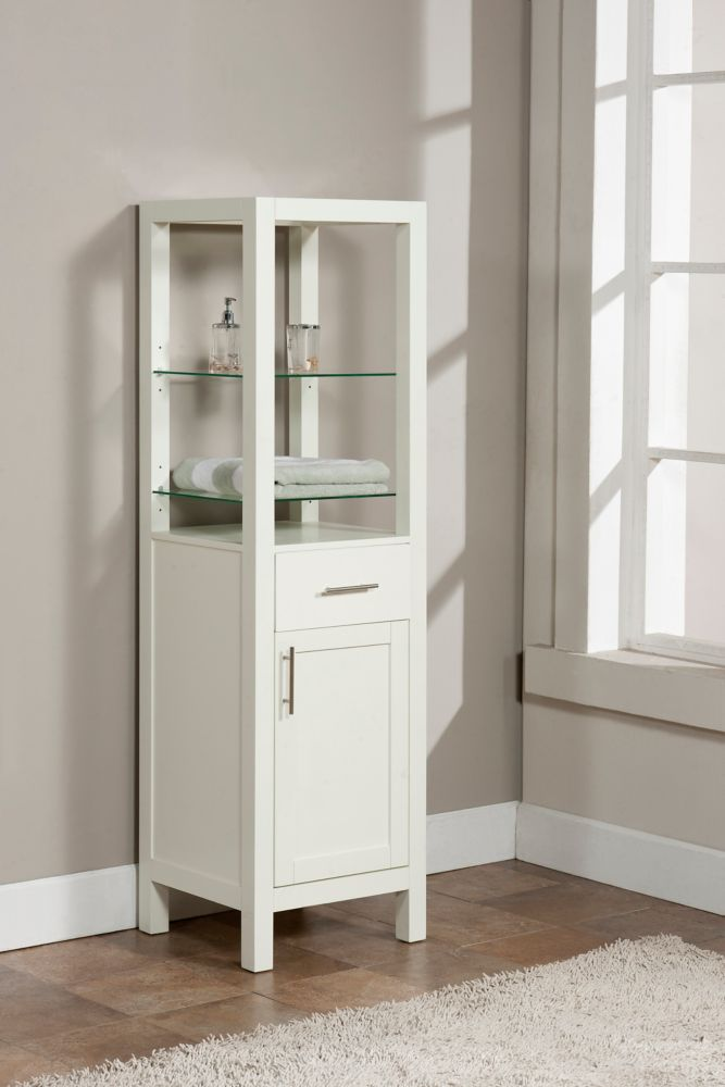 The Linden Linen Tower in Dove White