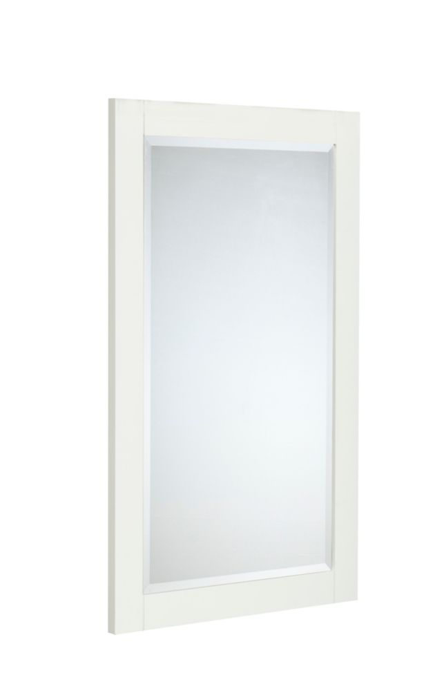 The Linden 25 Inches Mirror in Dove White