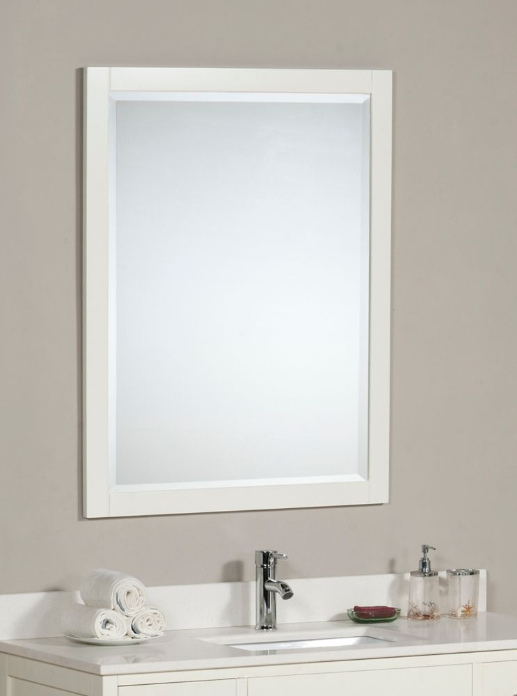 The Linden 30 Inches Mirror in Dove White
