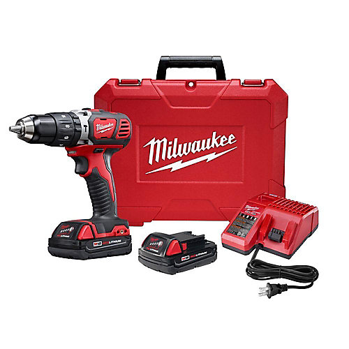 M18 18V Lithium-Ion Cordless 1/2-Inch Hammer Drill Driver Kit with (2) 1.5Ah Batteries and Hard Case