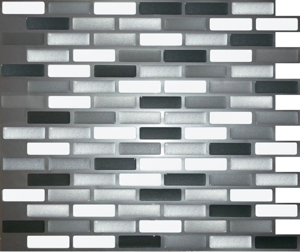 Shiny Greys Oblong Stick-It Tile 9.25 Inch x 11 Inch Bulk Pack (8 Tiles)