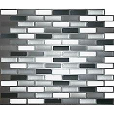 Shiny Greys Oblong Peel and Stick-It Tile 11X9.25 Inch Bulk Pack (8 Tiles)