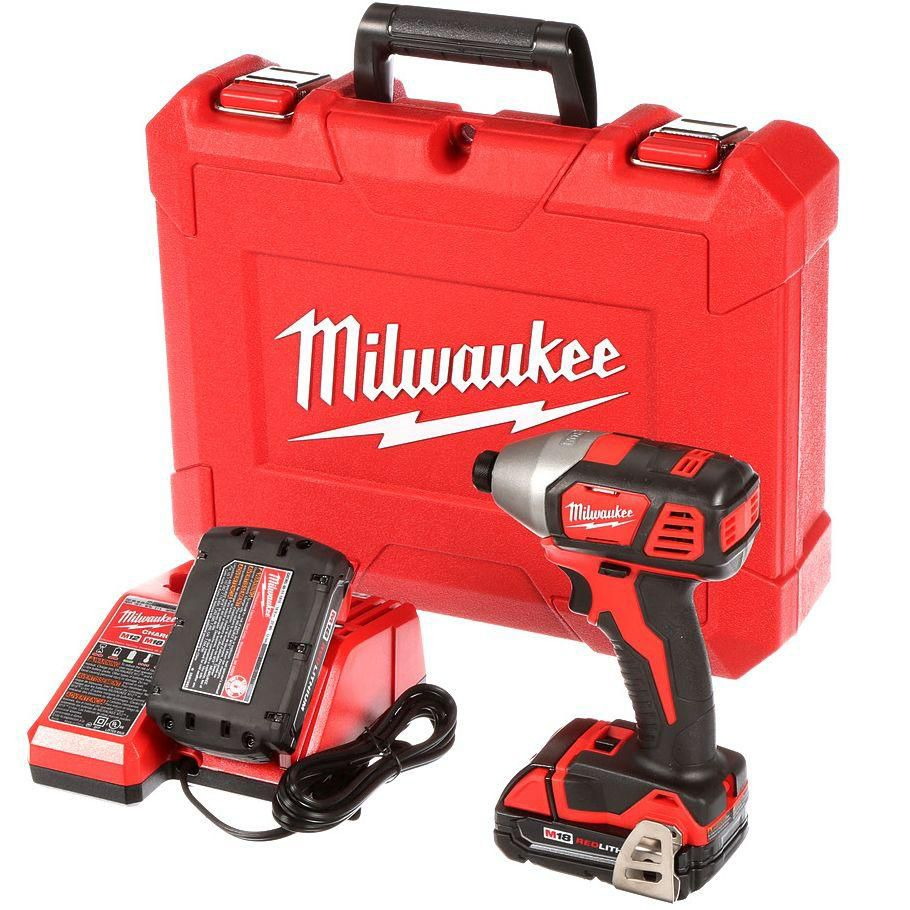 Milwaukee Tool 1/4 Inch M18 2-Speed Hex Impact Driver Kit