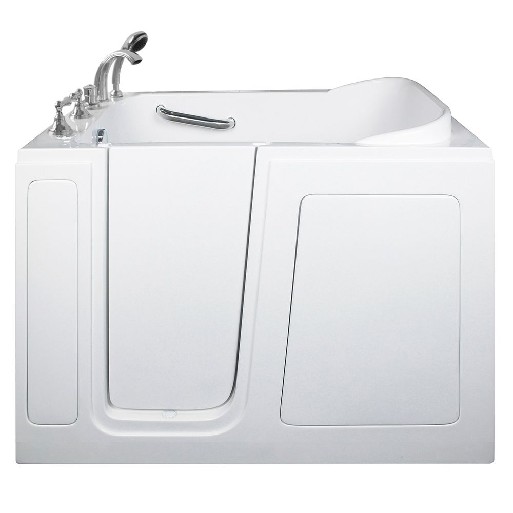 E-Series Dual Massage 4 Feet Walk-In Whirlpool Bathtub in White