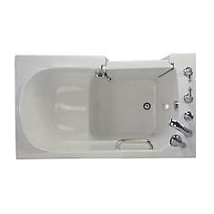 E Series Soaking 5 Feet Walk In Non Whirlpool Bathtub In White