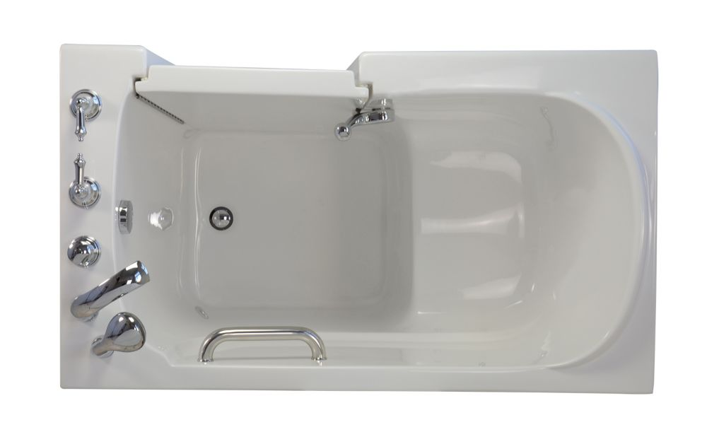 E-Series Soaking 5 Feet Walk-In Non Whirlpool Bathtub in White
