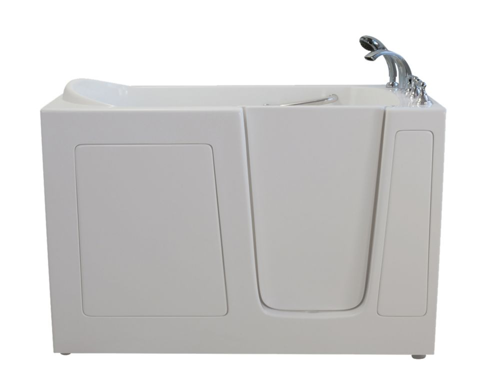 E-Series Air Massage 60 Inch. X 30 Inch. Walk In Tub In White With Right Drain E3060AR in Canada