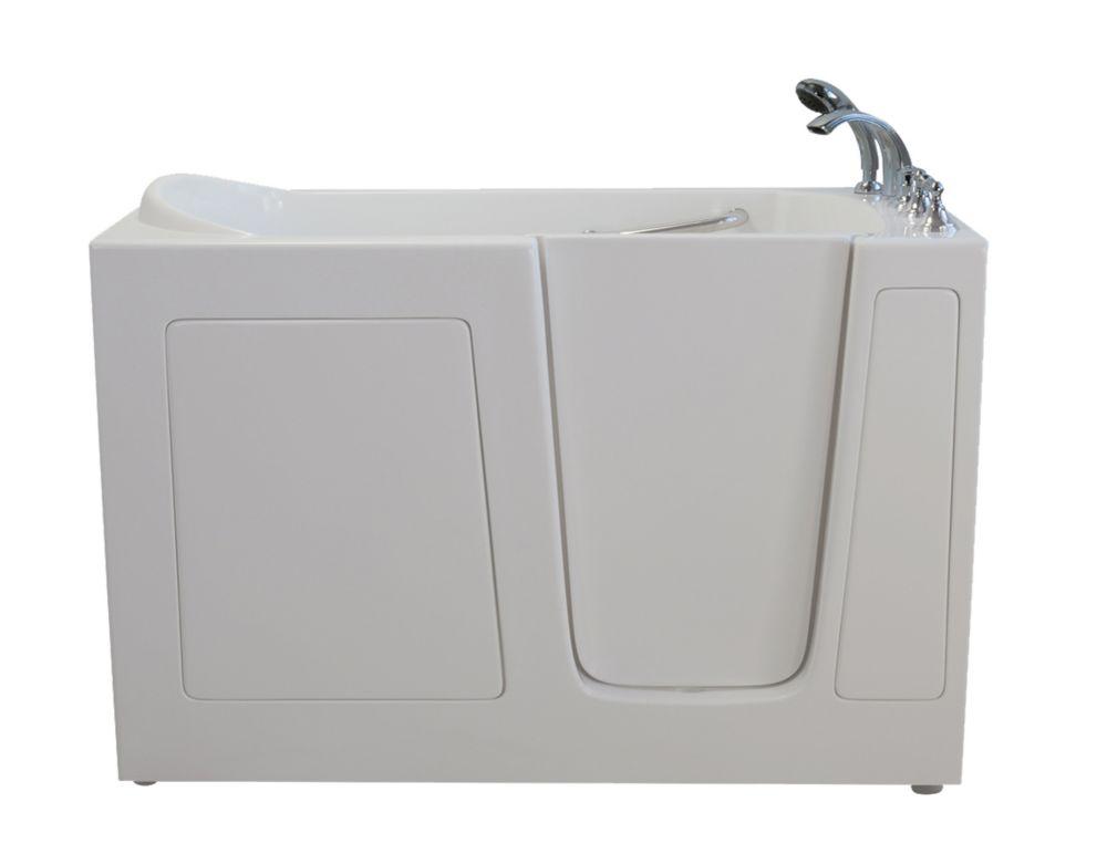 E-Series Dual Massage 5 Feet Walk-In Whirlpool Bathtub in White