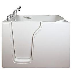 Ella E-Series Air Massage 4 Feet 7-Inch Walk-In Whirlpool Bathtub in White