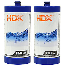 HDX FMF-2 Refrigerator Replacement Filter Fits Frigidaire WF1CB (2-Pack)