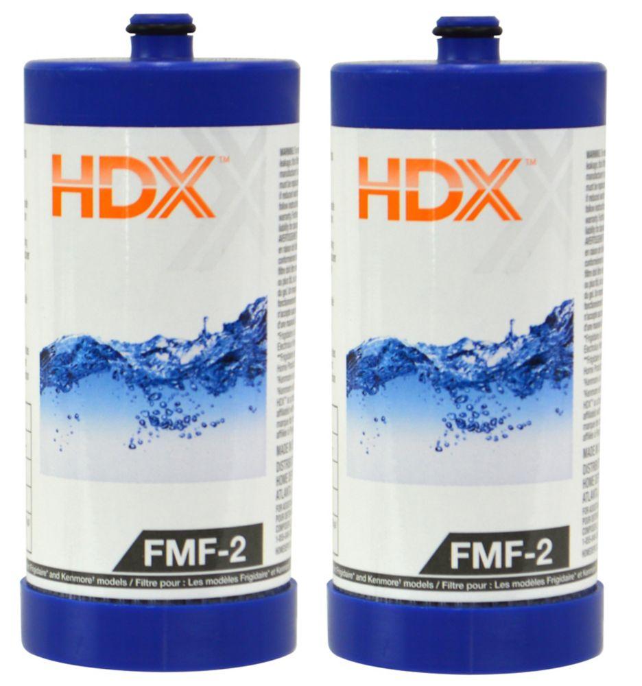 Filtre FMF-2 remplace le filtre Frigidaire WF1CB (Paquet de 2)