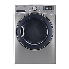7.4 cu. ft. Ultra Large Capacity Stackable Front-Load Electric SteamDryer in Graphite Steel