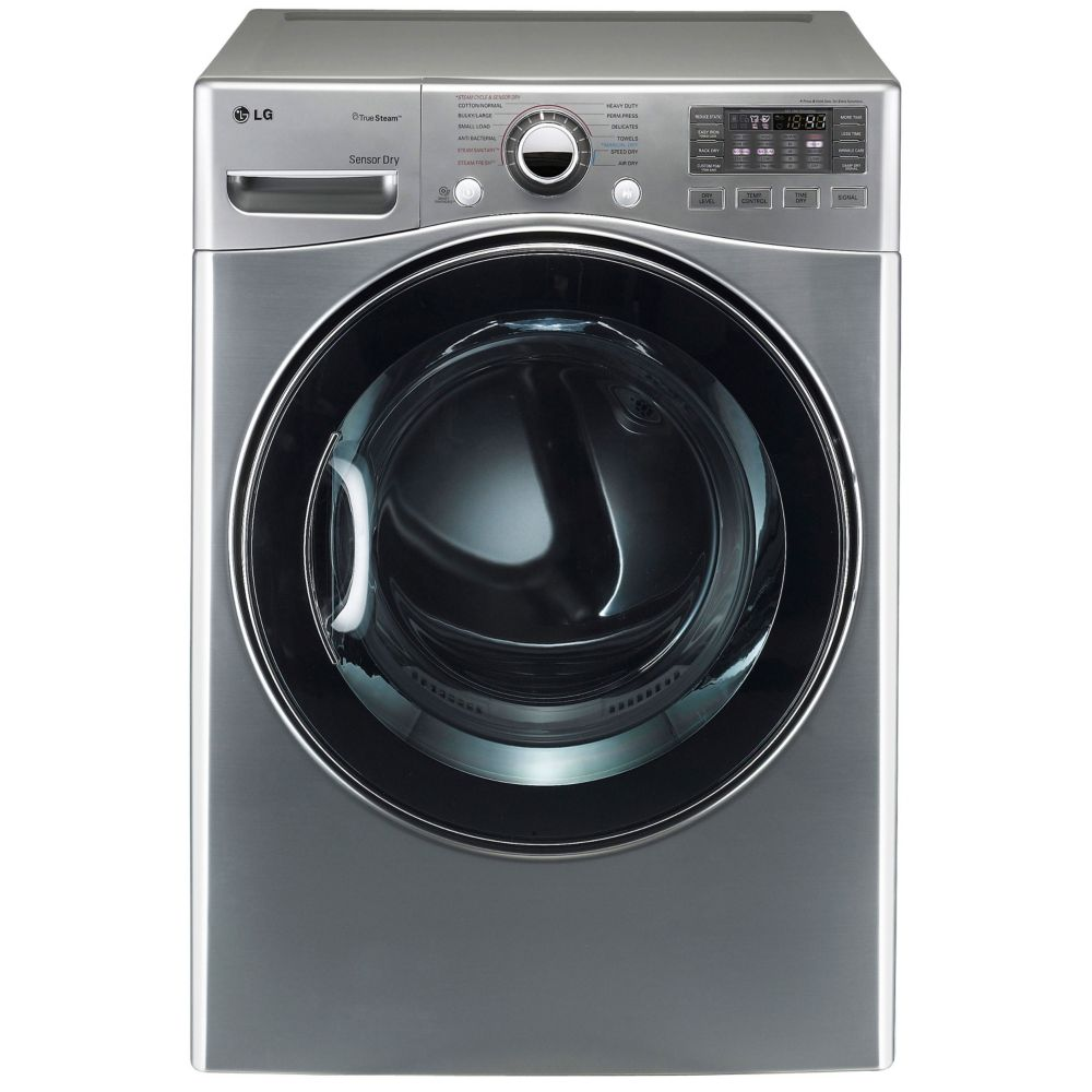 7.4 cu. ft. Ultra-Large Capacity Gas Dryer with TrueSteam� Technology in Graphite Steel