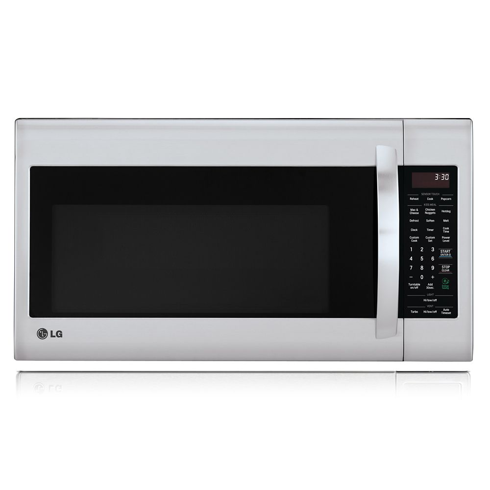 Lg 2 0 cu ft over the range microwave with easyclean Microwave with stainless steel interior