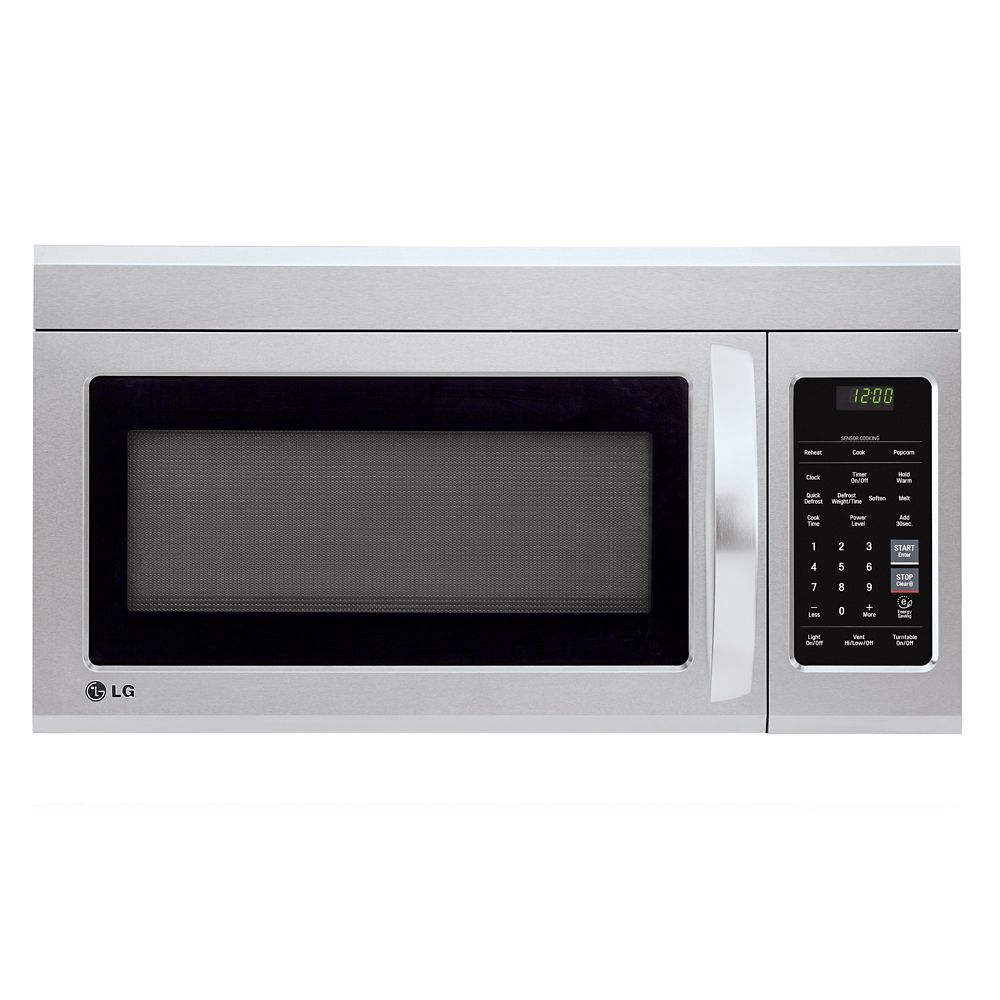 Lg 1 8 cu ft over the range microwave with easyclean Microwave with stainless steel interior