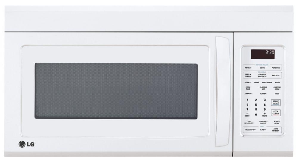 Fours-hottes LG de 1,8 pi. cube avec Technologie de cuisson à capteur  - LMV1852SW