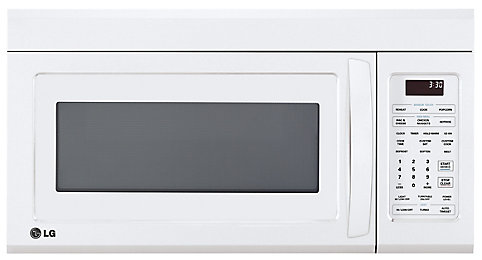 Over The Range Microwave With Easyclean Interior In White Home Depot Canada