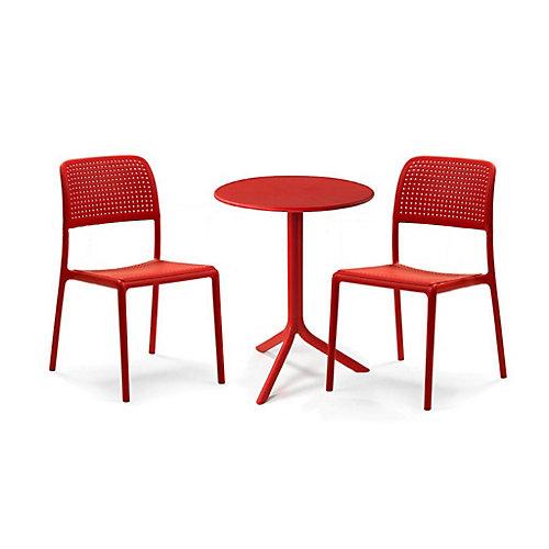 3-Piece Bora Bistrot Bistro Set in Red