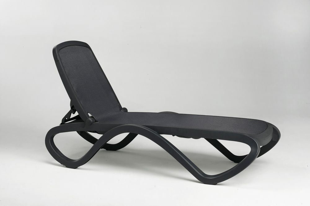 Chaise Longue Omega -  -(Anthracite/tissu tramé Anthracite)