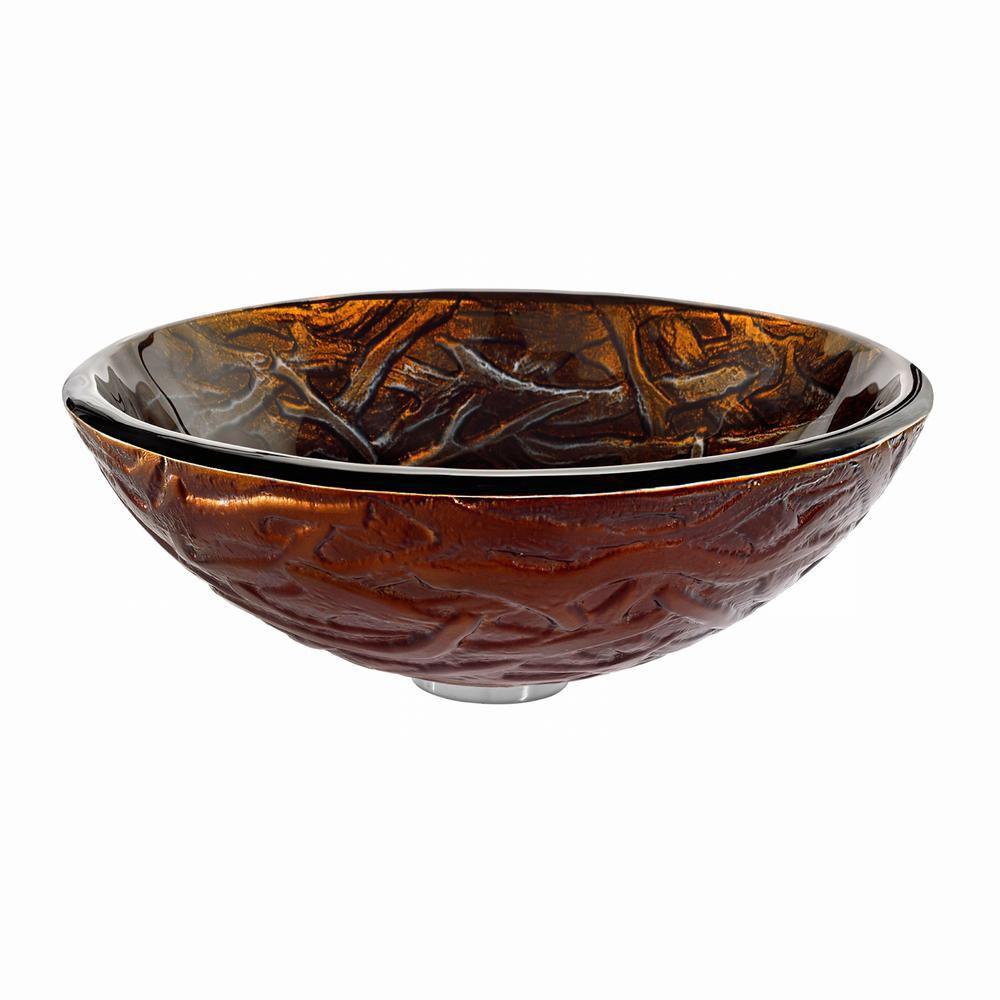 Lavabo-vasque en verre Dryad