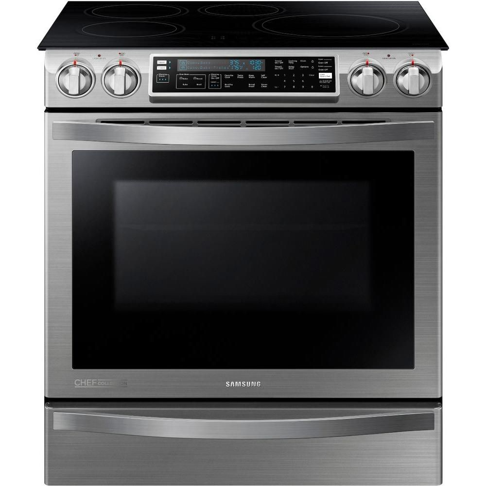 Chef Collection 5.8 cu. ft. Slide-in Induction Range with Flex Duo� Oven in Stainless Steel
