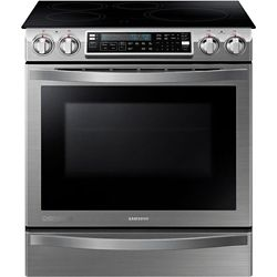 Samsung Chef Collection 5.8 cu. ft. Induction Range with Self-Cleaning Convection Oven in Stainless Steel