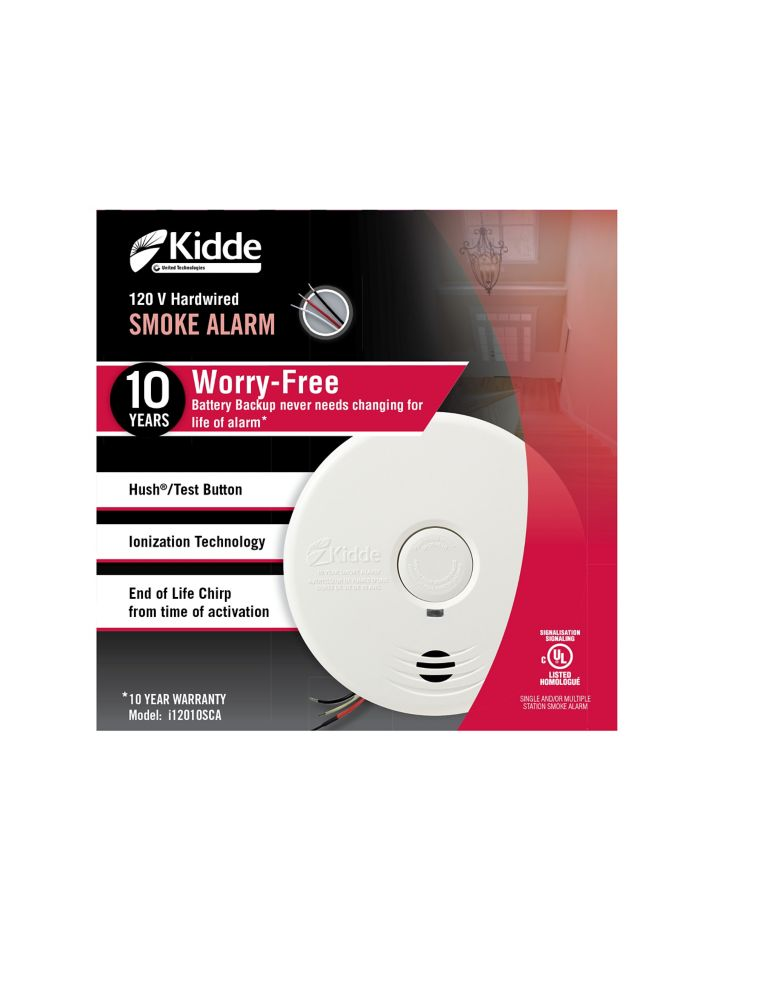 kidde worry free hardwire smoke alarm with 10yr sealed battery backup the h. Black Bedroom Furniture Sets. Home Design Ideas