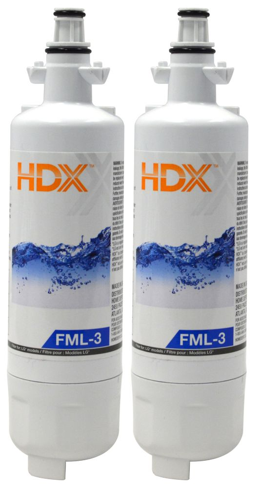 FML-3 Refrigerator Replacement Filter Fits LG LT700P (2 Pack)