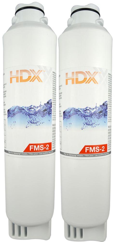 HDX FMS-2 Refrigerator Replacement Filter Fits Samsung HAF-CIN (2 Pack)