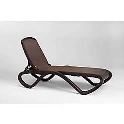 Nardi Omega Outdoor Chaise Lounge in Caffe