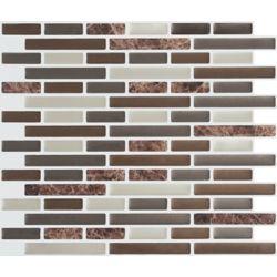 Stick-It Tiles Brown Marble Peel and Stick-It Tile 11X9.25 Bulk Pack (8 Tiles)