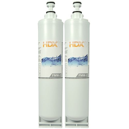 HDX FMW-2 Refrigerator Replacement Filter Fits Whirlpool Filter 5 (2-Pack)