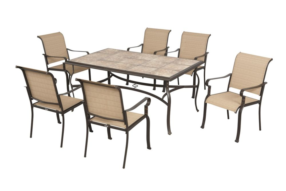 hampton bay belleville 7 piece patio dining set the home