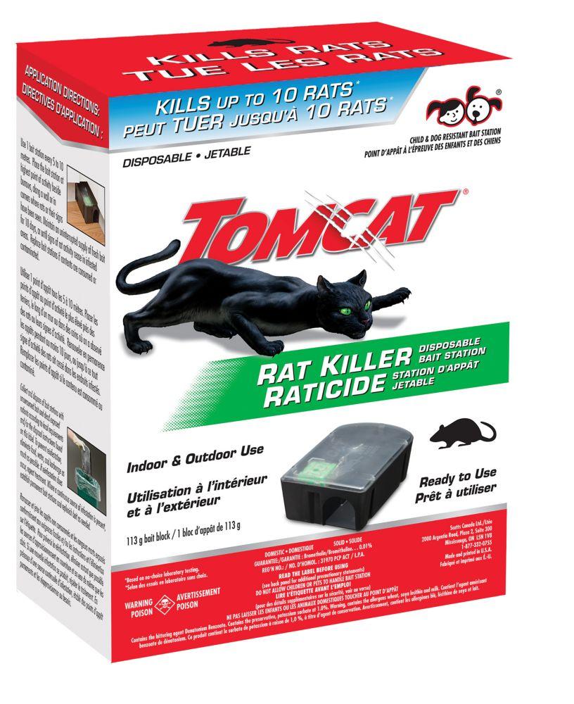 Station-appât jetable pour rats Tomcat
