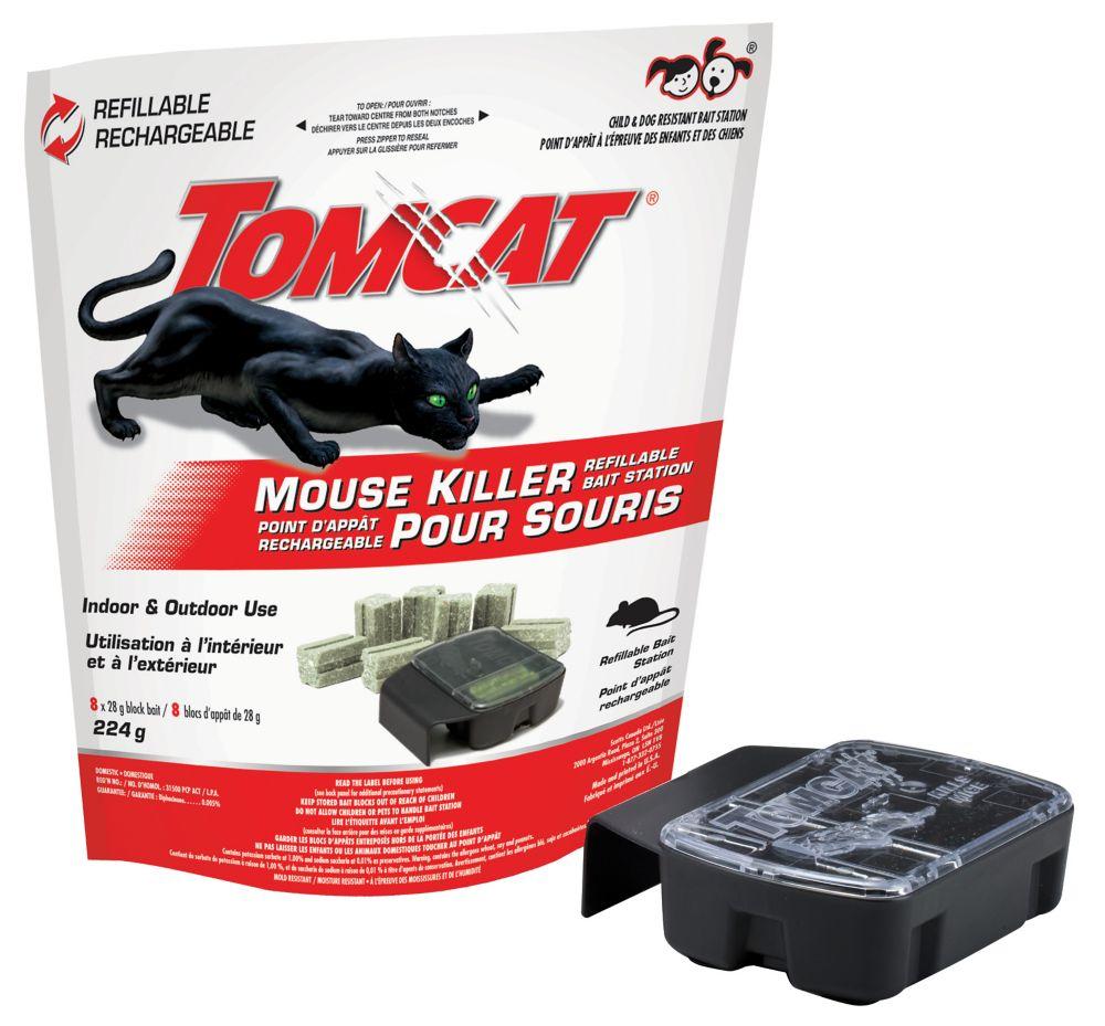 Station-appât rechargeable pour souris Tomcat