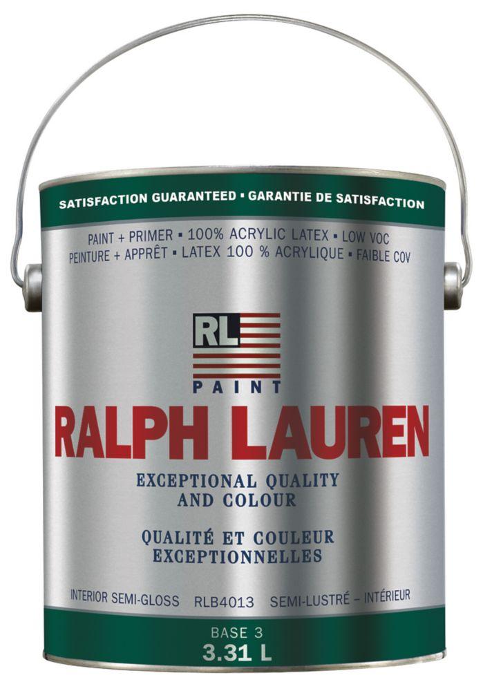 Ralph Lauren Interior Paint- Semi-Gloss- Base 3- Gallon 359329 Canada Discount