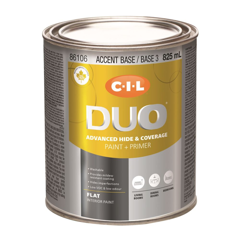 CIL DUO Interior Flat Accent Base / Base 3, 825 mL