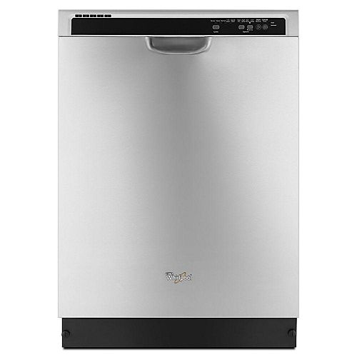 Whirlpool Front Control Dishwasher in Stainless Steel with Plastic Tub, 53 dBA - ENERGY STAR®