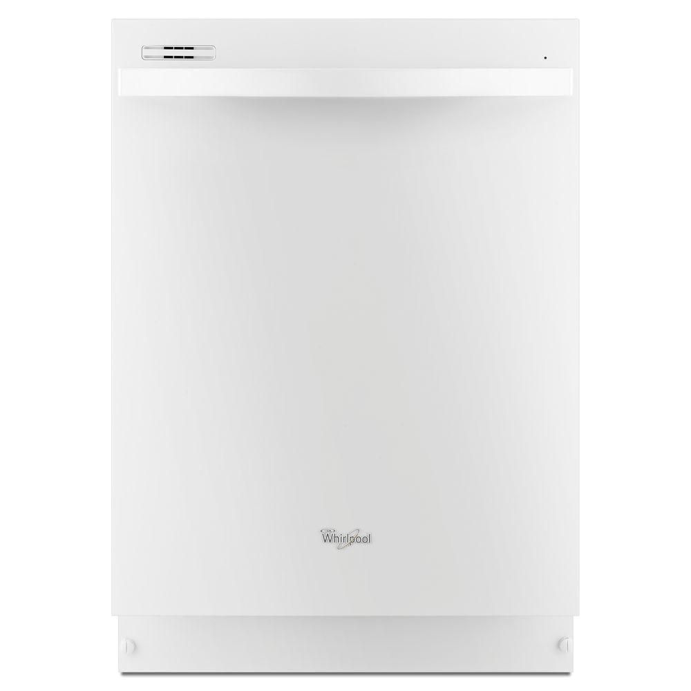 Gold 24-inch Dishwasher with Silverware Spray in White