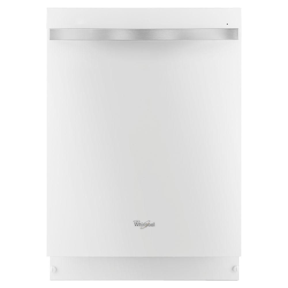 Gold 24-inch Dishwasher with Silverware Spray in White