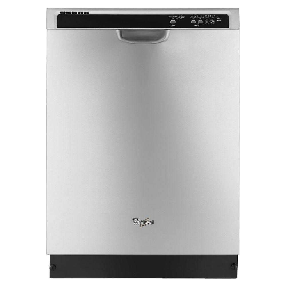 Whirlpool Front Control Built-In Tall Tub Dishwasher in Stainless Steel, 55 dBA - ENERGY STAR®
