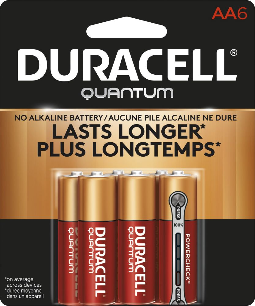 Duracell Quantum Alkaline, 6 Aa Quantum Batteries In  Blister Card, 48 Packs Per Case  Radiance