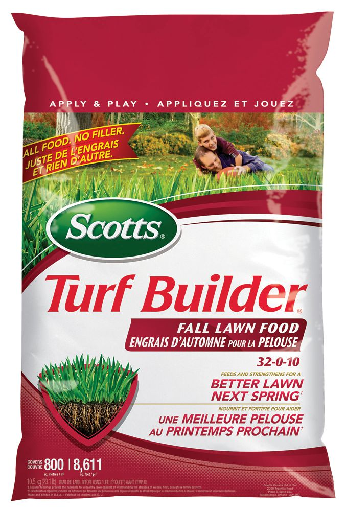 Engrais d'autone pour la pelouse Turf Builder 400 m2