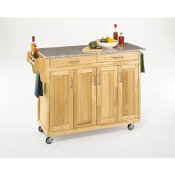 Home Styles Create-a-Cart Natural Finish SP Granite Top