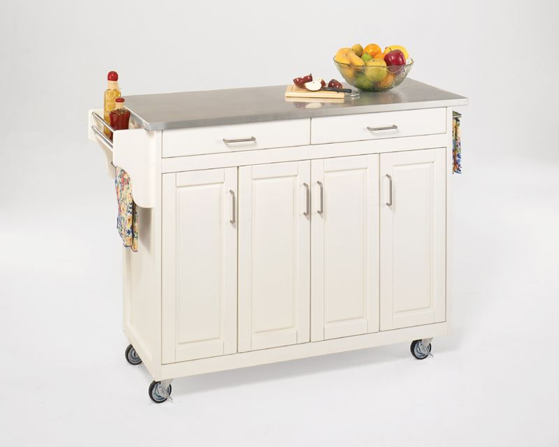 Create-a-Cart White Finish Stainless Top 9200-1022 Canada Discount