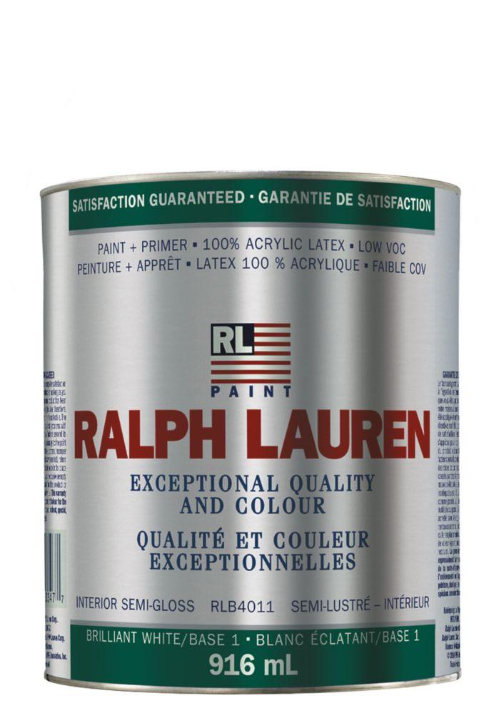 Ralph Lauren Interior Paint- Semi-Gloss- Brilliant White/Base 1- Quart 359324 Canada Discount