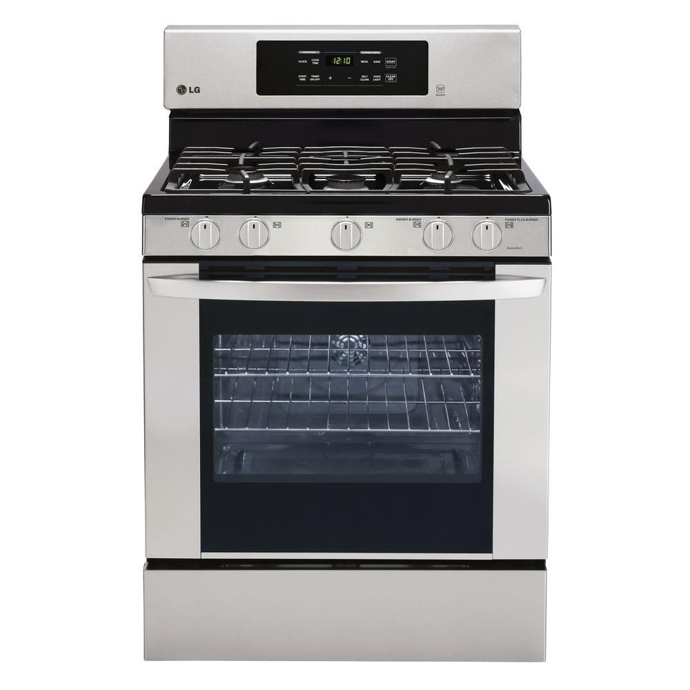 5.4 cu. ft. Gas Range with Convection in Stainless Steel