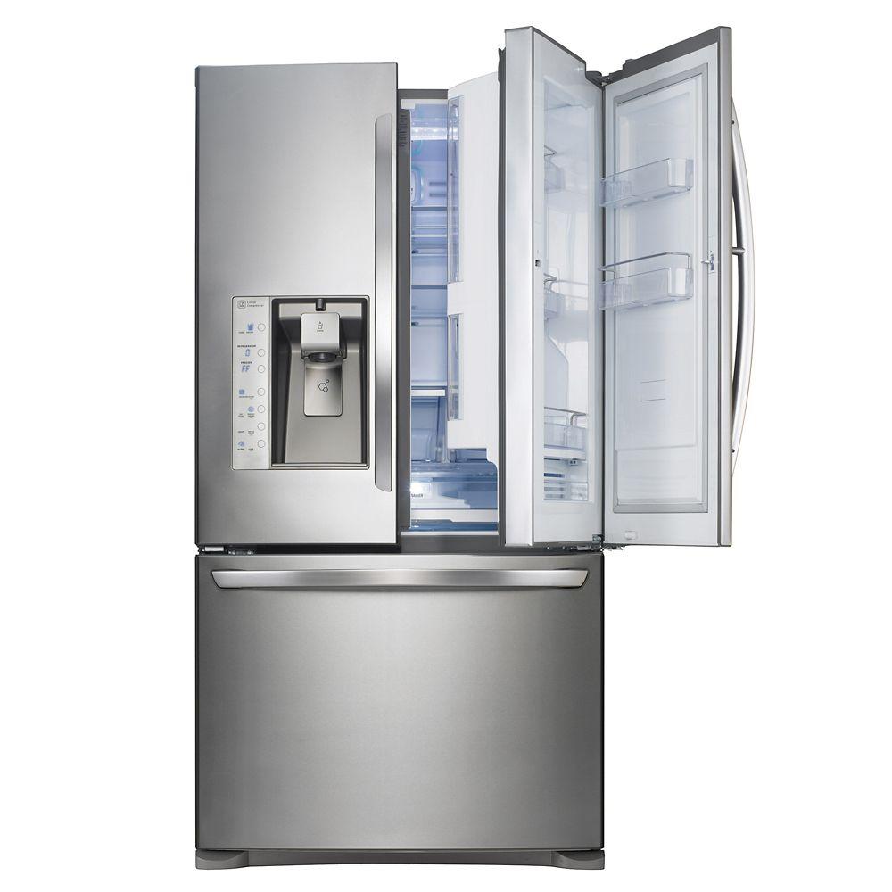 23.8 cu. ft. Door-in-Door Refrigerator with Slim SpacePlus Ice System in Stainless Steel