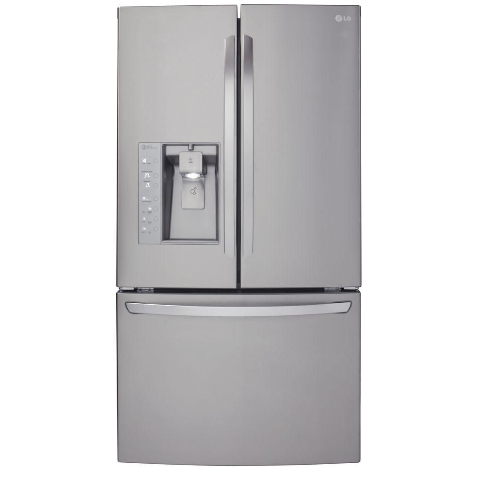 LG Electronics 24 cu. ft. Counter-Depth Refrigerator with Slim SpacePlus Ice System in Stainless Steel - ENERGY STAR®