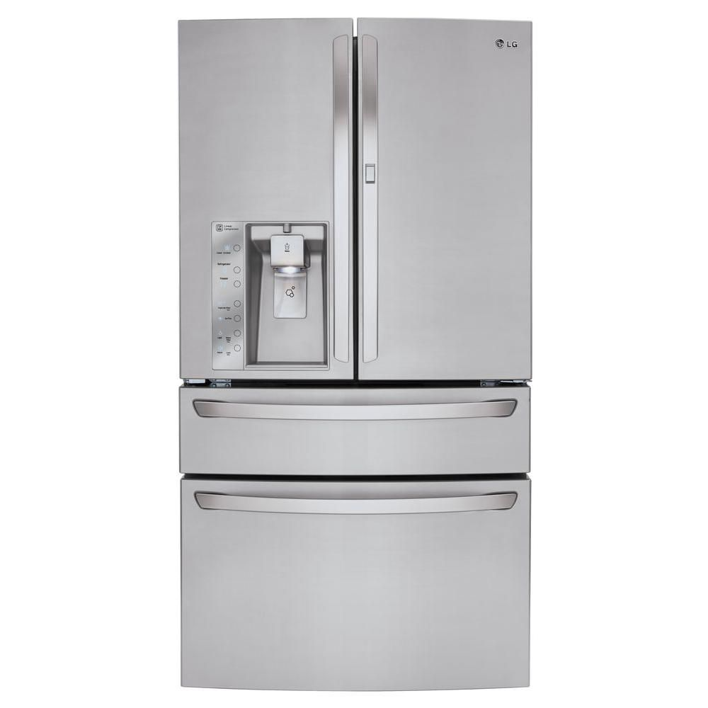 Réfrigérateur avec porte dans la porteMC de 36 po d'une capacité de 30 pi. cube avec machine à gl...